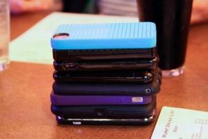 phone stacking