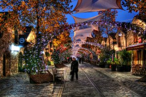 Bercy Village at Christmas time