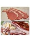 Top - bacon, bottom - fake bacon